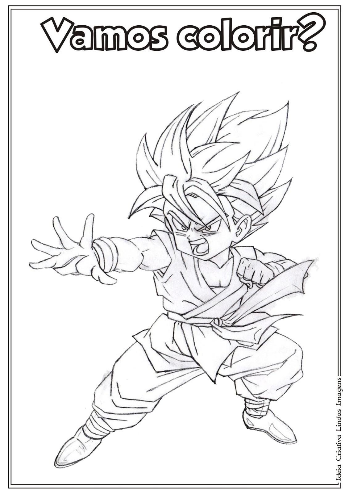 Riscos Para Colorir Gratis Desenho Dragon Ball Z Para Colorir