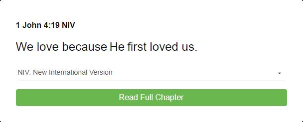 1 John 4:19 NIV
