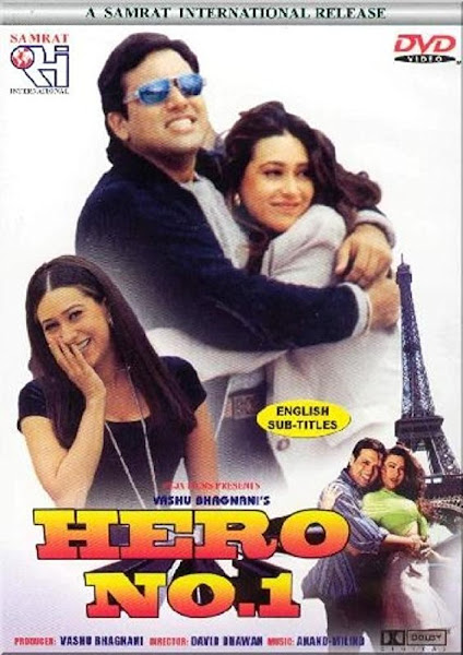 Poster of Hero No. 1 (1997) Full Movie In Hindi 720p HDRip ESubs Download