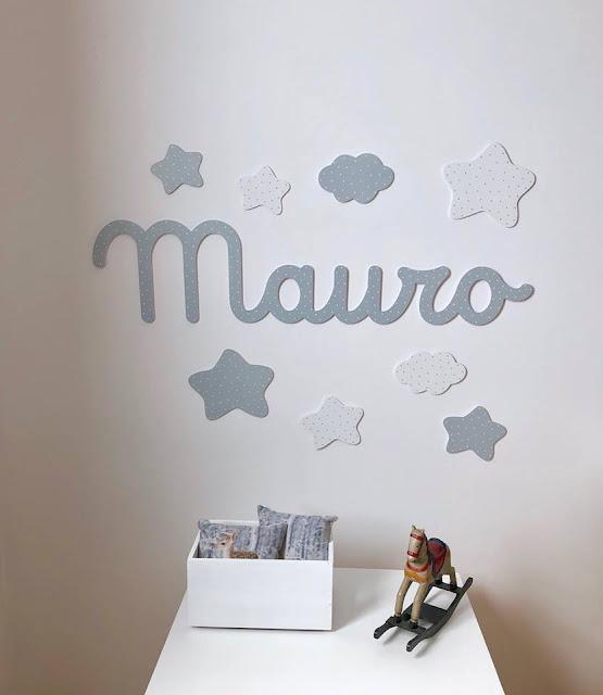 Nombres para decoración infantil ,pintados a mano
