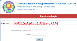 JIPMER MBBS Admit card 2016