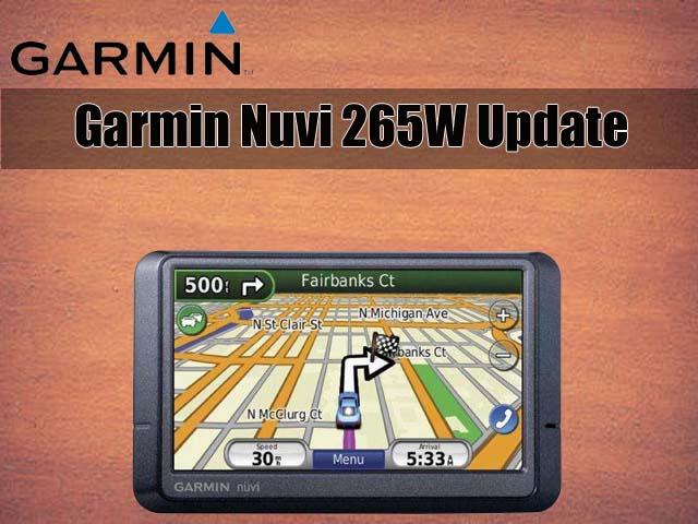 garmin nuvi 265w map update free