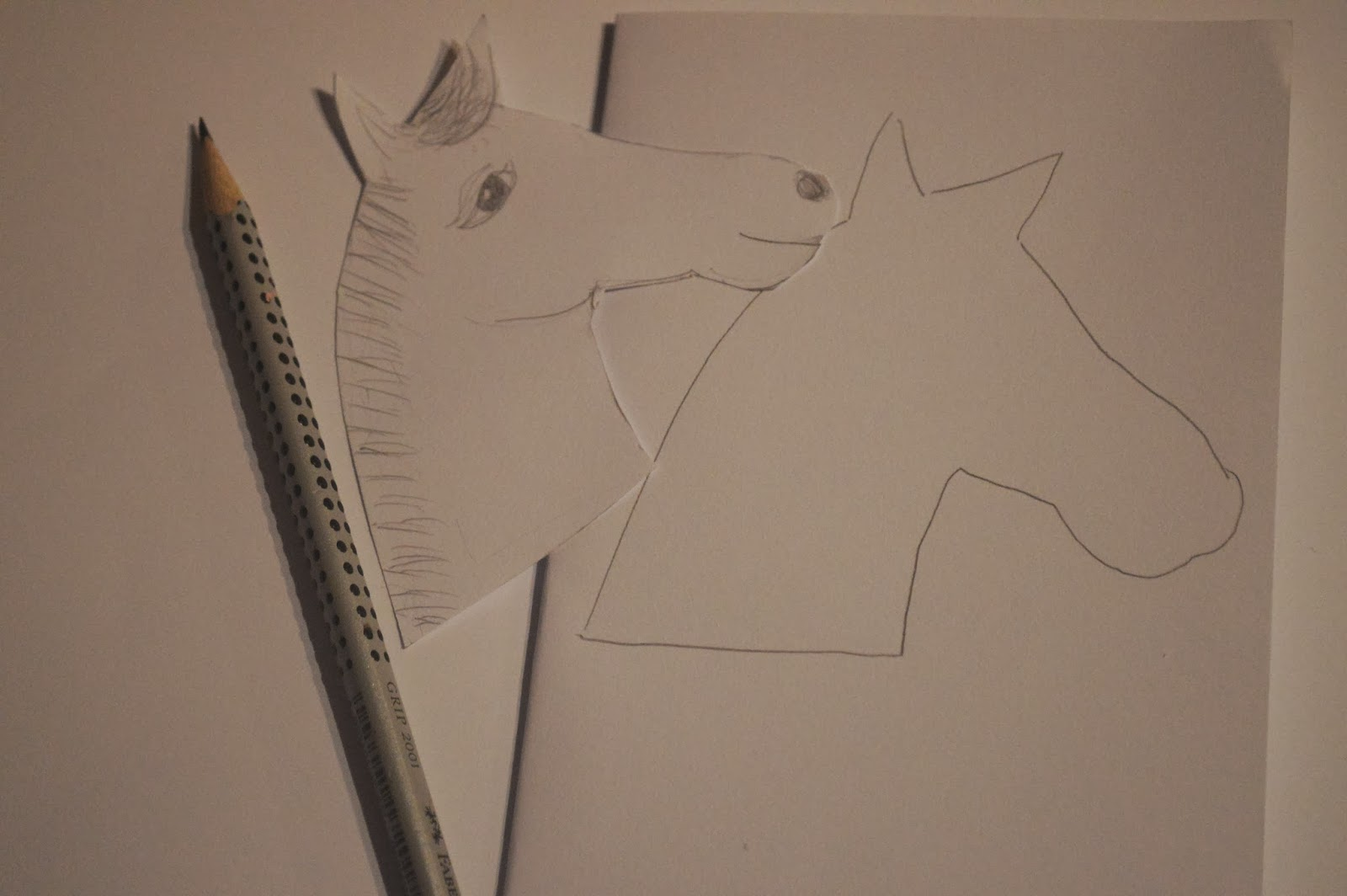 Trace Chinese New Year Horse  Drawing Template