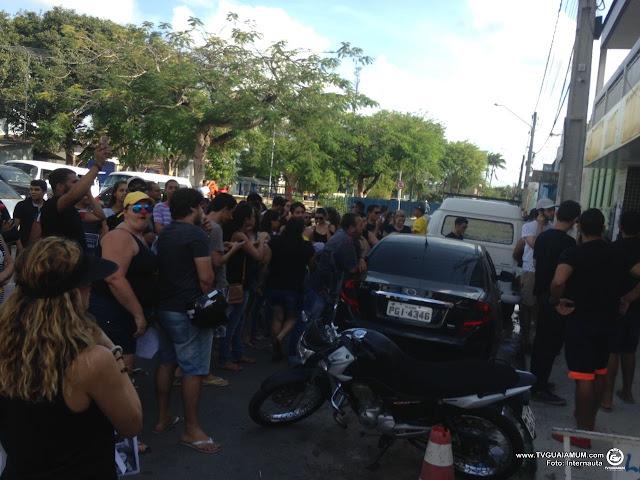 Protesto: Estudantes reivindicam volta do transporte universitário
