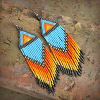 купить этнические серьги из бисера купить оригинальные серьги ручной работы в этно стиле в подарок девушке