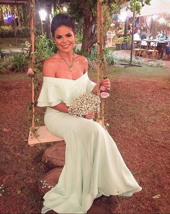 vestido de festa casamento ao ar livre