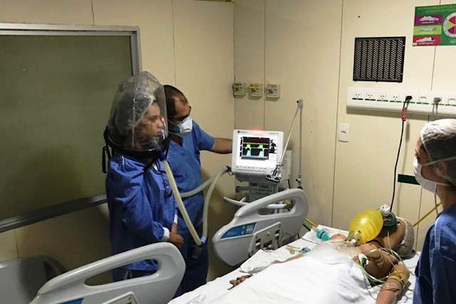 Após criar capacetes com ventilação para pacientes em estado grave por Covid-19, UFPB realiza testes em quatro hospitais paraibanos