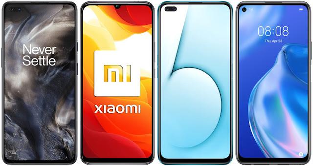 OnePlus Nord 5G vs Xiaomi Mi 10 Lite 5G vs Realme X50 5G vs Huawei P40 Lite 5G