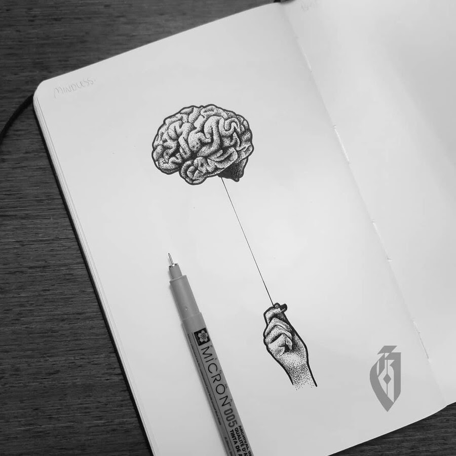 01-Brain-Keeping-yourself-grounded-bloopdots-www-designstack-co