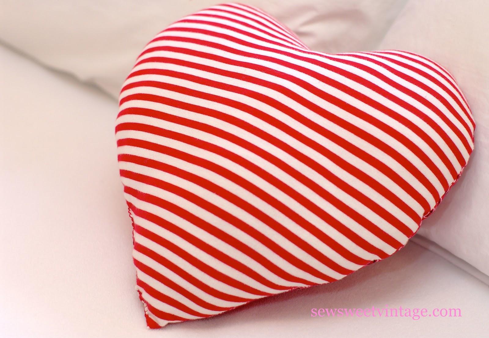 Sew Sweet Vintage Diy Heart Pillow
