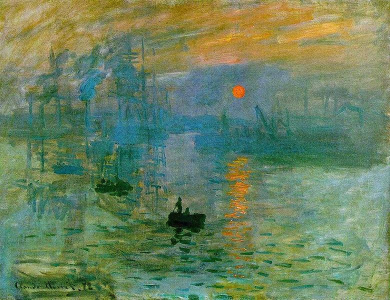 """Quadro """"Impressão: Sol Nascente"""" de Monet"""