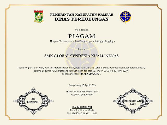 Sertifikat Prakerin, Magang Kerja, Praktek Kerja Lapangan (PKL)