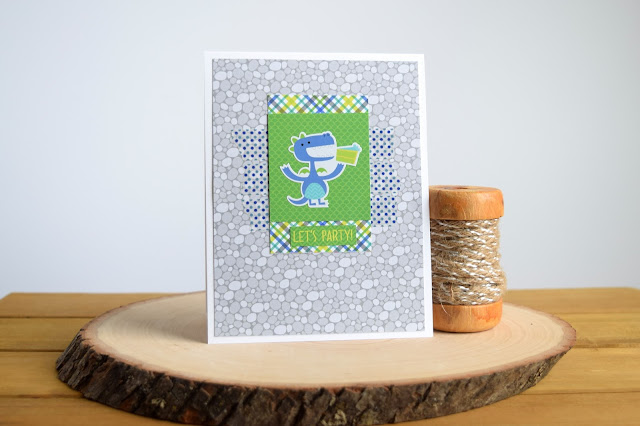 Card with Doodlebug Dragon Tails by Jess Crafts