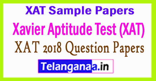 XAT 2018 Question Papers Pdf Download