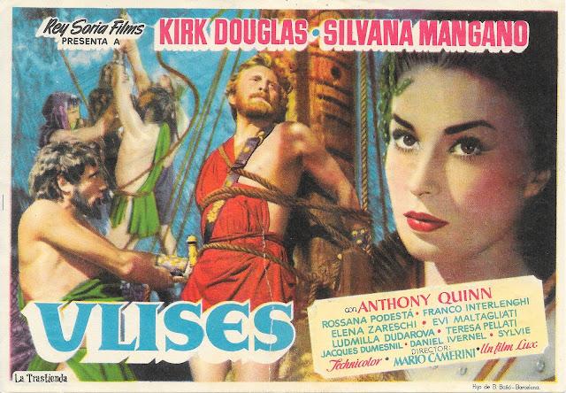 Programa de Cine - Ulises - Kirk Douglas - Silvana Mangano - Anthony Quinn