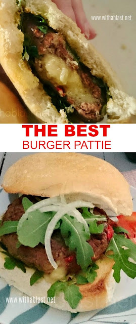 ALL the flavor is in the Best Burger Pattie ~ and it is not only because of of the oh,so gooey cheese oozing out with each bite !