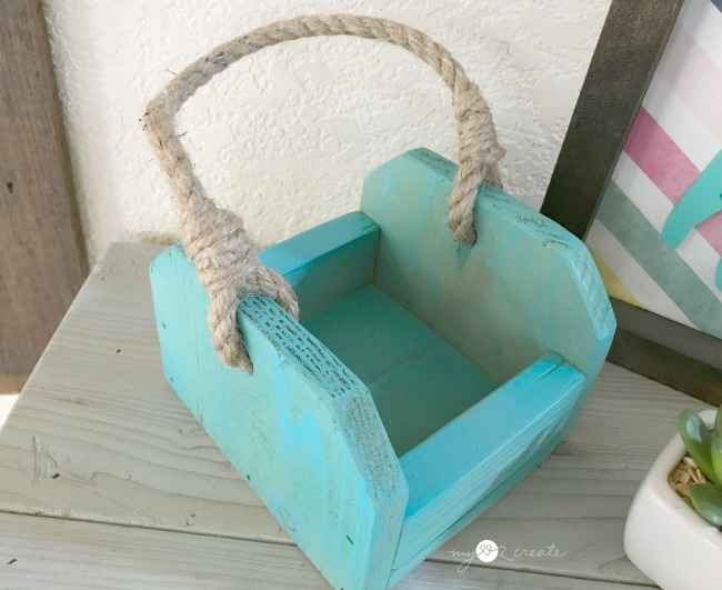 easy to make caddy or crate, great for gifts or decor