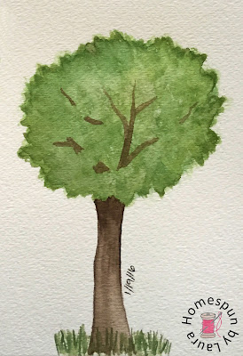 tree watercolor Daily Doodle