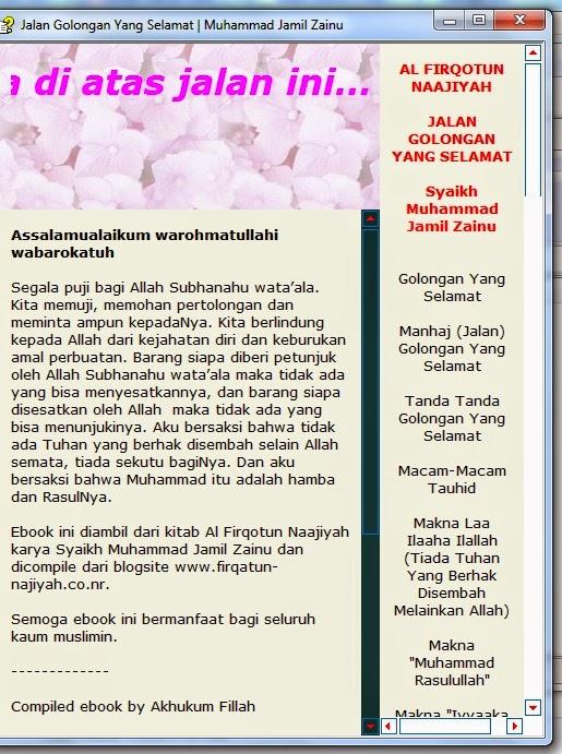 DOWNLOAD EBOOK GOLONGAN YANG SELAMAT (FIRQOTUN NAJIYAH)