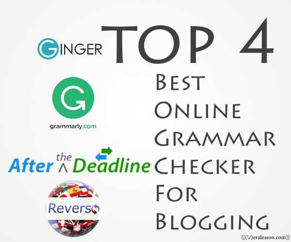 4 Top Best Online Grammar Check For Blogging
