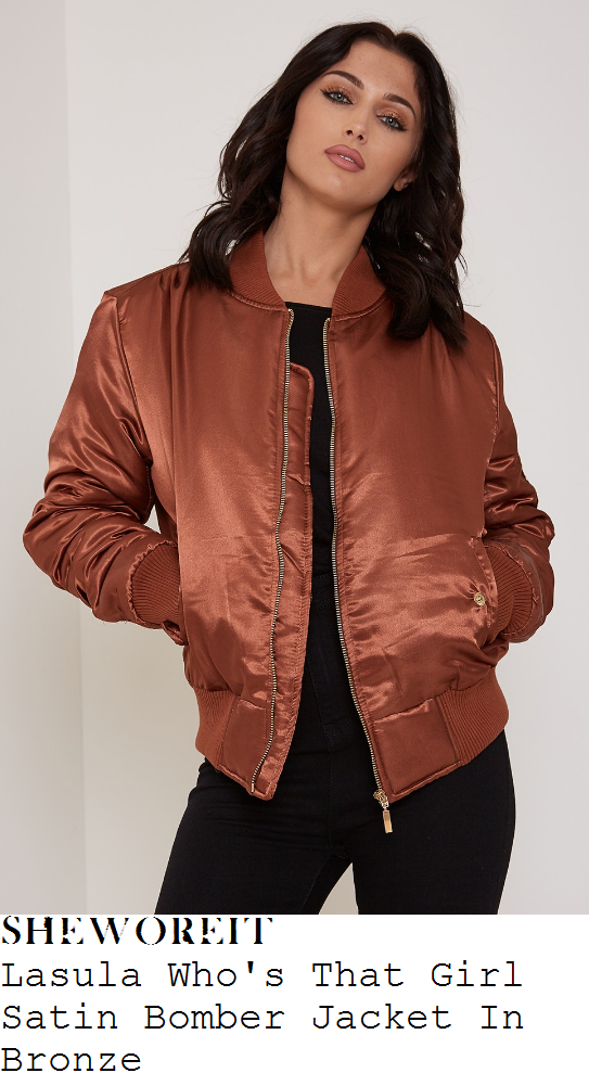 sam-faiers-lasula-who's-that-girl-metallic-copper-bronze-satin-bomber-jacket