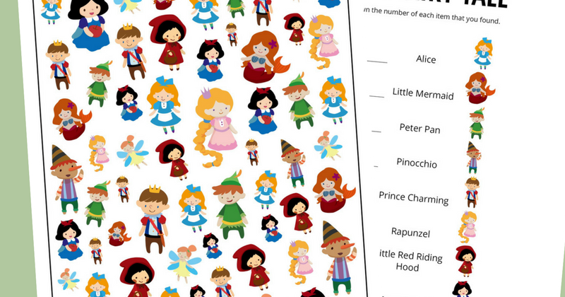 image about Printable Fairy Tales named Fairy Story Themed I Spy Activity No cost Printable for Children And
