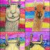 Llamas with Peruvian Textiles