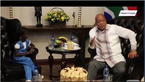 Zuma celebrates 18th birthday with SA's only black female progeria sufferer | Watch