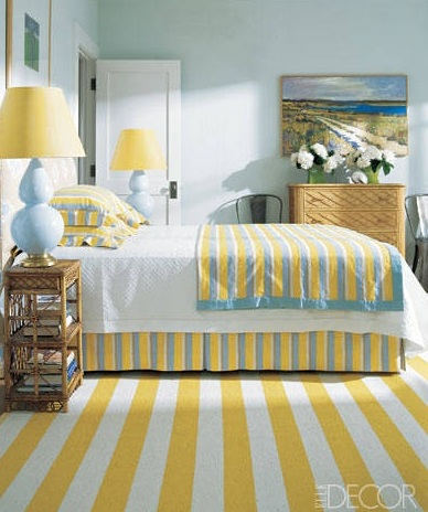 Beach Theme Bedroom Idea with Yellow