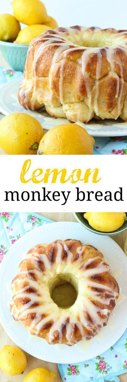 Glazed Lemon Monkey Bread