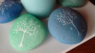 piedras, pintadas, árbol de la vida
