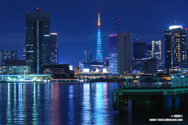 東京タワー・グリーンリボンの特別ライティング