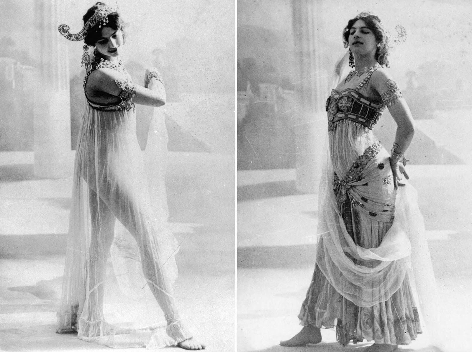 By 1905, Mata Hari began to win fame as an exotic dancer.