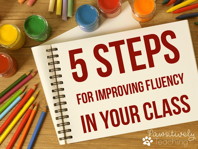 Looking for ways to improve reading fluency?  Here are 5 easy to implement tips ~ Freebie Included