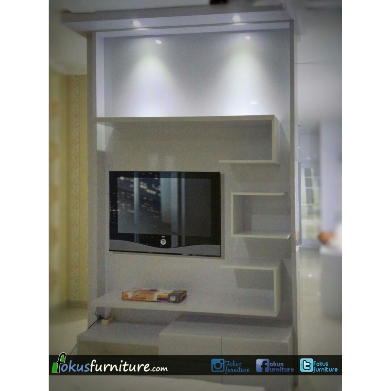 Model Lemari Sekat Partisi Sekat Ruangan Dua Muka Furniture Kitchen Set Minimalis