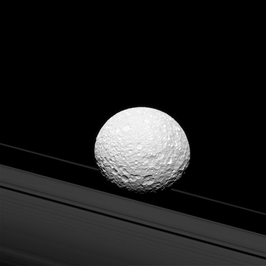 Saturn's moon Mimas | Earth Blog