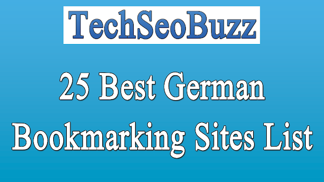 25 Best German Bookmarking Sites List for Social Bookmark Submission