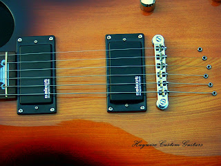 image results for a custom feather light double humbucker Telecaster from Haywire Custom Guitars