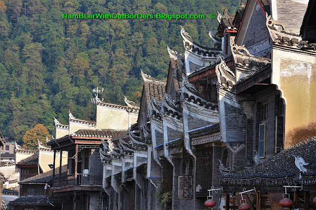 Roof decoration, Phoenix Fenghuang County, Hunan, China