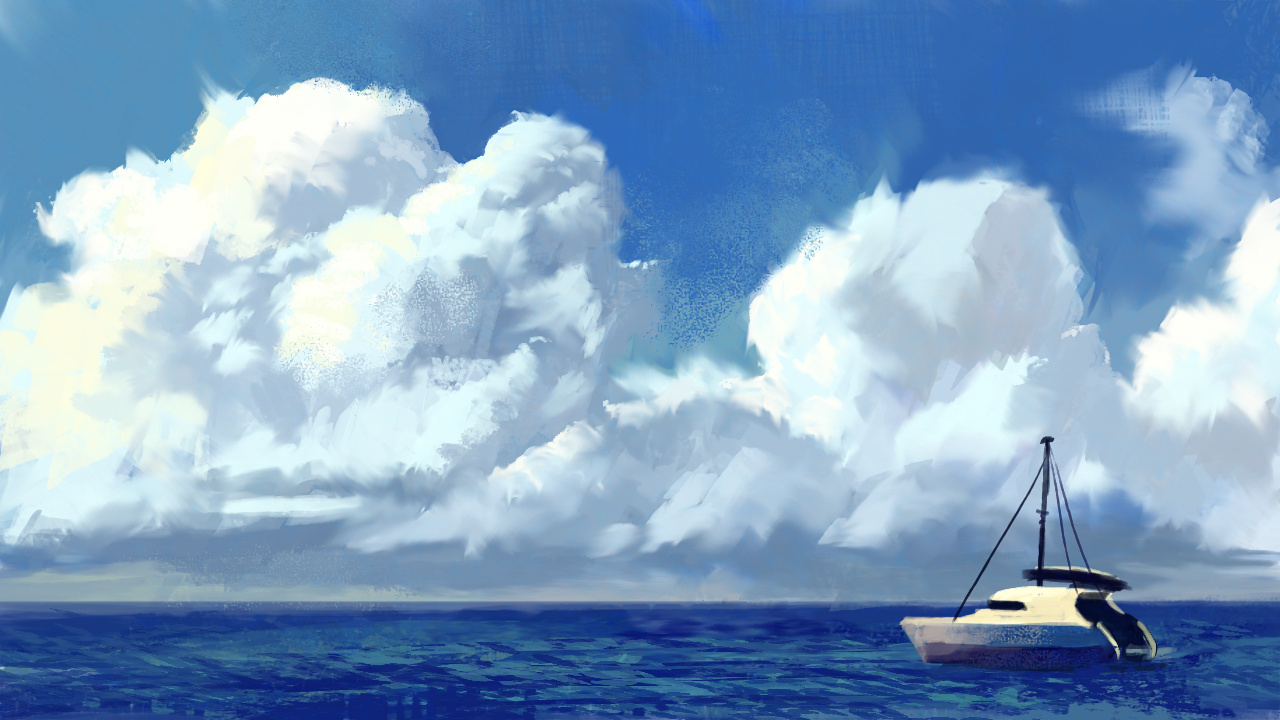 NiftyIdeas: Thorsday Tonic - Happy Little Clouds!