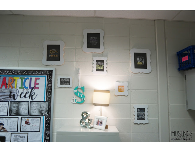 Picture of classroom decor