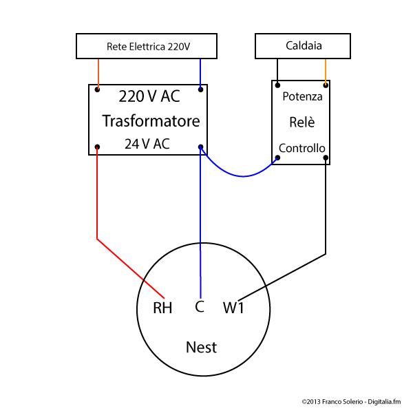 Szobatermosztát bekötése kapcsolási rajz