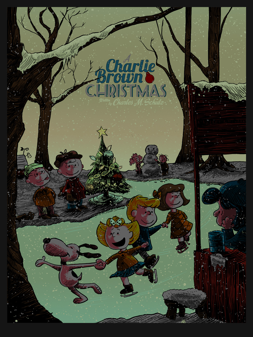 inside the rock poster frame blog a charlie brown christmas by