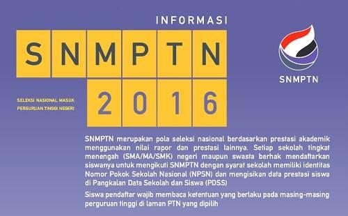 INFORMASI SNMPTN TAHUN 2016