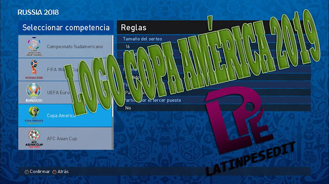 PES 2017 & 2018 Copa America 2019 Logo by LPE