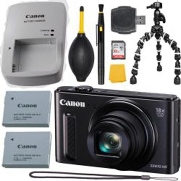 Canon PowerShot SX610 HS 20.2 MP Black + MORE