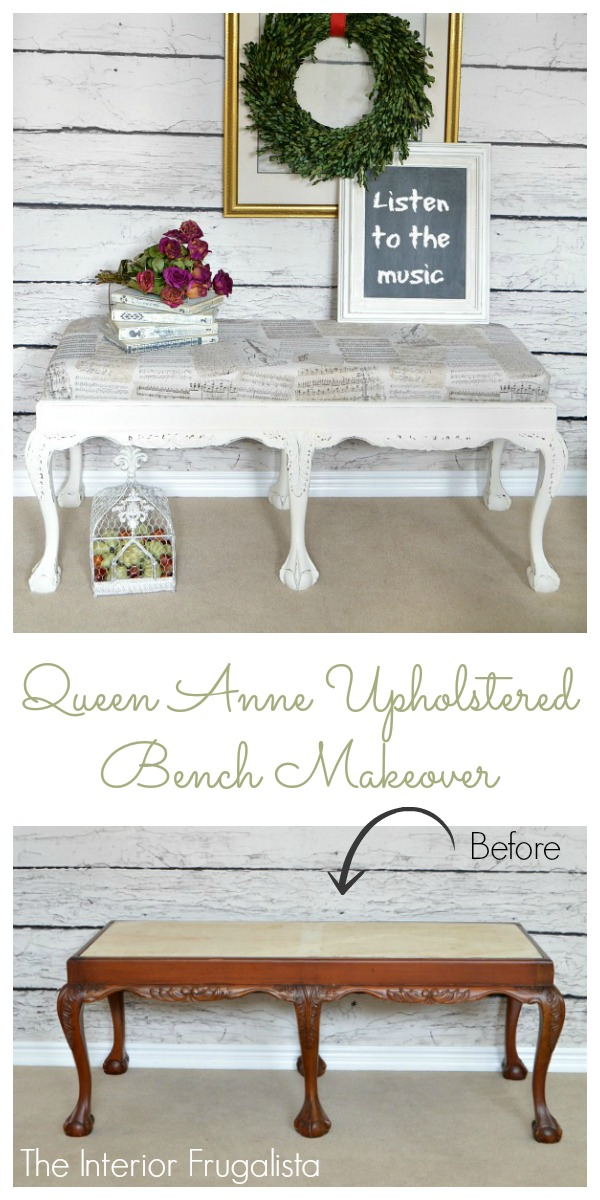 Queen Anne Coffee Table To Upholstered Bench Before And After