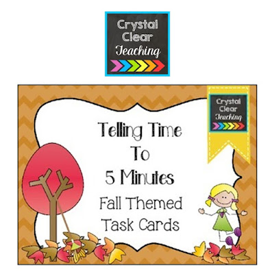 https://www.teacherspayteachers.com/Product/Telling-Time-to-5-Minutes-Fall-Themed-Task-Cards-2050321