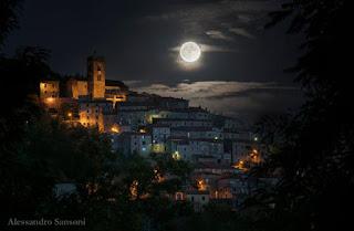 Pontito under a full moon. Valleriana Tuscany