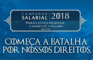 9ª rodada de negociação da Campanha Salarial 2018 acontece na próxima terça-feira, dia 13